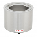 Empura E-FW-1200WR 11 Qt. Stainless Steel Round Countertop Food / Soup Kettle Warmer - 120V, 800W