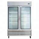 """Empura E-KB54FG 54"""" Freezer 2 Glass Door Stainless Reach In - 43.9 cu. ft."""