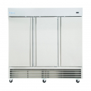 """Empura E-KB81R 81"""" Reach In Bottom-Mount Stainless Steel Refrigerator With 3 Full-Height Solid Doors - 66 Cu Ft, 115 Volts"""