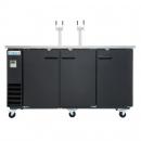 Empura E-KDD4-2 3 Door Direct Draw Beer Dispenser - 20.8 Cu Ft, 2 Tap