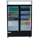 """Empura EGM-50B 52.4"""" Black Swing Glass Door Merchandiser Refrigerator With 2 Doors, 50 Cubic Ft, 115 Volts"""