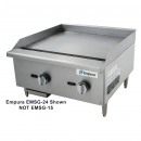 "Empura EMSG-15 16"" Stainless Steel Medium Duty Gas Griddle, 28,000 BTU"