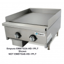 "Empura EMSTG48-HD-1PLT 48"" Stainless Steel Heavy Duty Thermostat Controlled Gas Griddle, 120,000 BTU"