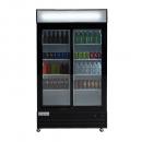 """Empura ESM-36B 44.5"""" Black Sliding Glass Door Merchandiser Refrigerator With 2 Doors, 36 Cubic Ft, 115 Volts"""