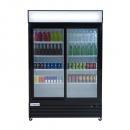 """Empura ESM-42B 52.3"""" Black Sliding Glass Door Merchandiser Refrigerator With 2 Doors, 42 Cubic Ft, 115 Volts"""