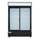 """Empura ESM-50B 52.1"""" Black Sliding Glass Door Merchandiser Refrigerator With 2 Doors, 50 Cubic Ft, 115 Volts"""