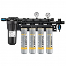Everpure EV932744 INSURICE Quad 4FC-S Ice Filtration System with Pre-Filter 0.5 Micron and 10 GPM