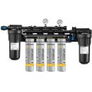 Everpure EV932944 High Flow CSR Quad-4FC 0.5 Micron and 10 GPM Water Filtration System with Pre Filter