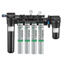 Everpure EV943711 High Flow CSR Quad-MC2 Water Filtration System with Pre-Filter and Low Pressure Alarm 0.5 Micron and 6.7 GPM