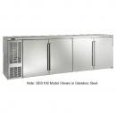 "Perlick BBS108_BLSDC 108"" Back Bar Refrigerator, Black Vinyl Doors and Left Condensing Unit"