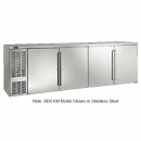 """Perlick BBS108_SSLGDC 108"""" Back Bar Refrigerator, Glass Doors with Stainless Steel Frames and Left Condensing Unit"""
