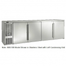 """Perlick BBS108_SSRGDC 108"""" Back Bar Refrigerator, Glass Doors with Stainless Steel Frames and Right Condensing Unit"""