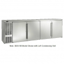 """Perlick BBS108_SSRSDC 108"""" Back Bar Refrigerator, Stainless Steel Doors and Right Condensing Unit"""