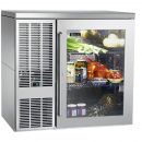 """Perlick BBS36_SSLGDC 36"""" Back Bar Refrigerator, Glass Door with Stainless Steel Frame and Left Condensing Unit"""