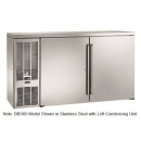 "Perlick BBS60_BRSDC 60"" Back Bar Refrigerator, Black Vinyl Doors and Right Condensing Unit"