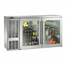 """Perlick BBS60_SSLGDC 60"""" Back Bar Refrigerator, Glass Doors with Stainless Steel Frames and Left Condensing Unit"""