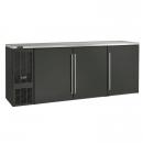 "Perlick BBS84_BLSDC 84"" Back Bar Refrigerator, Black Vinyl Doors and Left Condensing Unit"