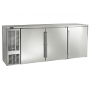"Perlick BBS84_SSLSDC 84"" Back Bar Refrigerator, Stainless Steel Doors and Left Condensing Unit"