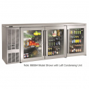 """Perlick BBS84_SSRGDC 84"""" Back Bar Refrigerator, Stainless Steel Doors and Right Condensing Unit"""