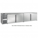 """Perlick BBSLP108_SSLGDC 108"""" Low Profile Back Bar Refrigerator, Glass Doors with Stainless Steel Frames and Left Condensing Unit"""