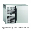 "Perlick BBSLP36_BRSDC 36"" Low Profile Back Bar Refrigerator, Black Vinyl Door and Right Condensing Unit"