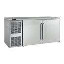 "Perlick BBSLP60_SSLSDC 60"" Low Profile Back Bar Refrigerator, Stainless Steel Doors and Left Condensing Unit"