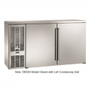 """Perlick BBSLP60_SSRSDC 60"""" Low Profile Back Bar Refrigerator, Stainless Steel Doors and Right Condensing Unit"""