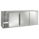 "Perlick BBSLP84_SSLSDC 84"" Low Profile Back Bar Refrigerator, Stainless Steel Doors and Left Condensing Unit"