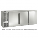 """Perlick BBSLP84_SSRSDC 84"""" Low Profile Back Bar Refrigerator, Stainless Steel Doors and Right Condensing Unit"""