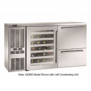 """Perlick DZS60_SSRDRWGDC_RW 60"""" Dual-Zone Back Bar Refrigerated Beer and Wine Storage Cabinet, with Drawers, Glass Door with Stainless Steel Frame, RW Thermostat, and Right Condensing Unit"""