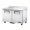 """True TWT-48F-HC 48"""" Two Door Worktop Freezer"""