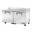 """True TWT-60F-HC 60"""" Two Door Worktop Freezer - 15.5 cu. ft."""