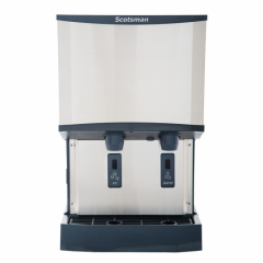 Scotsman HID525A-1 500 LB Meridian Air-Cooled Nugget Ice Machine Dispenser with Water Dispenser