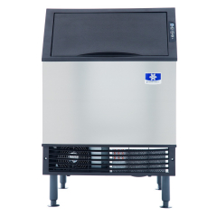 """Manitowoc URF0140A NEO 26"""" Air Cooled Undercounter Regular Size Cube Ice Machine with 90 lb. Bin - 127 lb."""