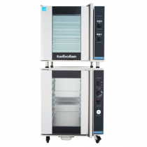 "Moffat E32D5/P12M 28-7/8"" Turbofan Full-Size Digital/Electric Convection Oven With Porcelain Oven Chamber On P12M 12 Tray Proofer/Holding Cabinet, 208V or 220-240V"
