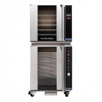 "Moffat E32T5/P8M 28-7/8"" Turbofan Full-Size Touch Screen/Electric Convection Oven With Porcelain Oven Chamber On P8M 8 Tray Proofer/Holding Cabinet, 208V or 220-240V"