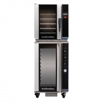 """Moffat E33T5/P10M 24"""" Turbofan Half-Size Touch Screen/Electric Convection Oven With Porcelain Oven Chamber On P10M 10 Tray Proofer/Holding Cabinet, 208V or 220-240V"""