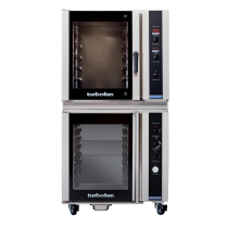 """Moffat E35D6-26/P85M8 35-7/8"""" Turbofan Full-Size Digital/Electric Convection Oven With Porcelain Oven Chamber On P85M8 8 Tray Proofer/Holding Cabinet, 208V or 220-240V"""