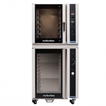 """Moffat E35D6-26/P85M12 35-7/8"""" Turbofan Full-Size Digital/Electric Convection Oven With Porcelain Oven Chamber On P85M12 12 Tray Proofer/Holding Cabinet, 208V or 220-240V"""
