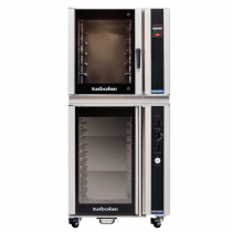 """Moffat E35T6-26/P85M12 35-7/8"""" Turbofan Full-Size Touch Screen/Electric Convection Oven With Porcelain Oven Chamber On P85M12 12 Tray Proofer/Holding Cabinet, 208V or 220-240V"""