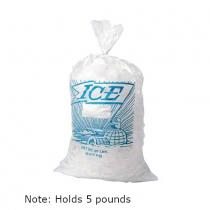 EK-H18PMET Printed Metallocene Ice Bag 5 LB Capacity