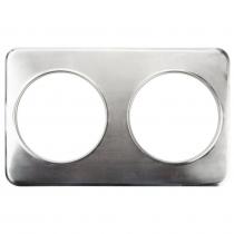 "Empura ADP-808 2 Hole Steam Table Adapter Plate - 8 3/8"""