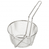 "Empura BFW-850 8 1/2"" Round Nickel Plated Fry Basket"