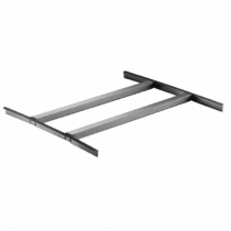 """Empura BP-301124 16/300 Stainless Steel Rack Slide For Dishtables With 1 Inch Square Tubing Fits 20"""" x 20"""" Sink Bowl"""