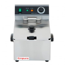 Empura E-DF-6L 12 lb. Commercial Electric Countertop Fryer - 120V, 1750W