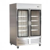 "Empura E-KB54RG 53.9"" Two Section Glass Door Reach In Refrigerator"