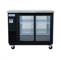 "Empura E-KBB48-2G-24SD 48"" Refrigerated Back Bar Storage Cabinet, Sliding Door - 12.5 Cu Ft"