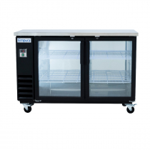 "Empura E-KBB60-2G-24 60"" Refrigerated Back Bar Storage Cabinet - 16.6 Cu Ft"