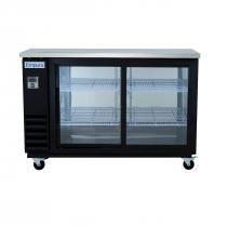 "Empura E-KBB60-2G-24SD 60"" Refrigerated Back Bar Storage Cabinet, Sliding Door - 16.6 Cu Ft"
