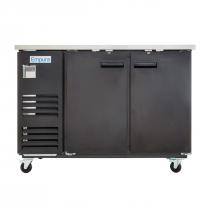 """Empura E-KBB602B Black Solid Door 27"""" Deep Back Bar Cooler"""